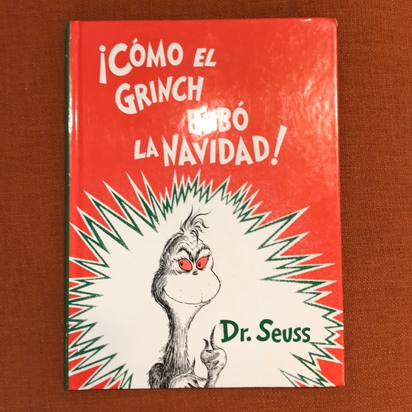 How The Grinch Stole Christmas Book Cover.Dr Seuss How The Grinch Stole Christmas In Spanish